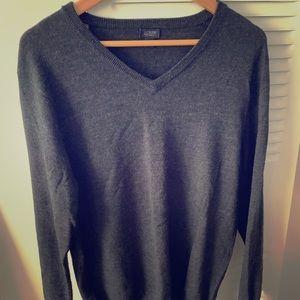 J crew merino wool v neck sweater medium